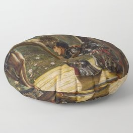 "Edward Burne-Jones ""The Merciful Knight"" Floor Pillow"