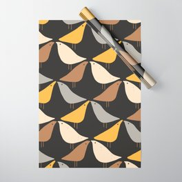 Autumn birds pattern Wrapping Paper