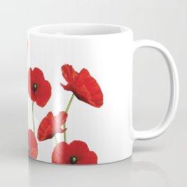 Poppies Field white background Coffee Mug