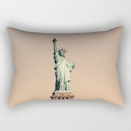 New York City Statue Liberty Photography ArtWork Rectangular Pillow