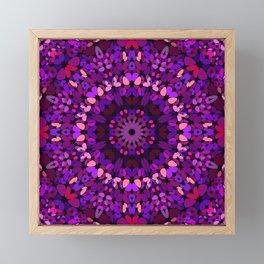 Purple Petal Garden Mandala Framed Mini Art Print
