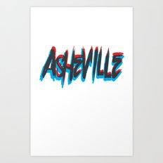ASHEVILLE  Art Print