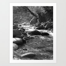 Places in Black & White: Whiskeytown 1 Art Print