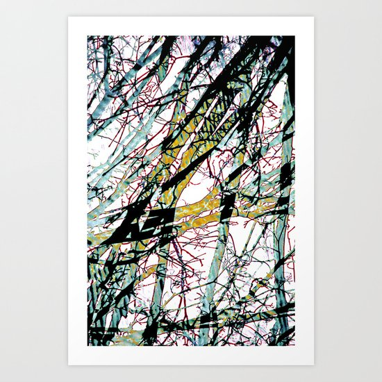 CRACKED CHINA Art Print