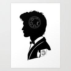11th Doctor - [Gallifreyan] Quote Silhouette Art Print