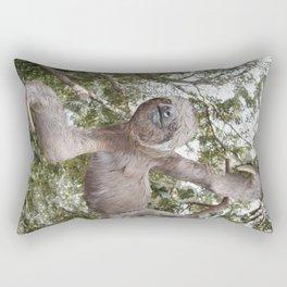 Tree hugging three toed Sloth Rectangular Pillow