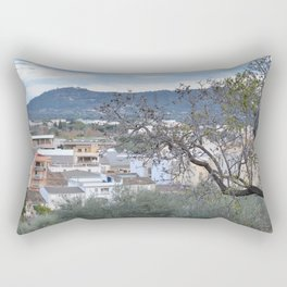 landscape in the little town Rectangular Pillow