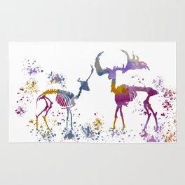 Deer Skeletons Rug