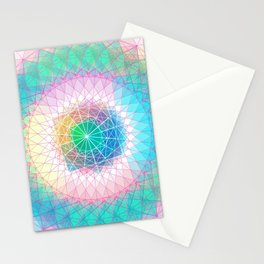 Orb Mandala 4 Baby blue Stationery Cards