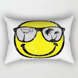 Happy Beach Face   Beach Designs   DopeyArt Rectangular Pillow