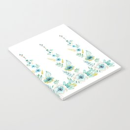 Blue Floral Twist Notebook