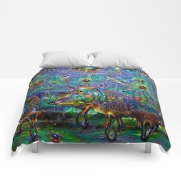 A night at the beach Comforters