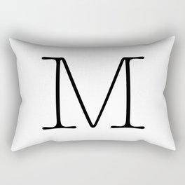 Letter M Typewriting Rectangular Pillow