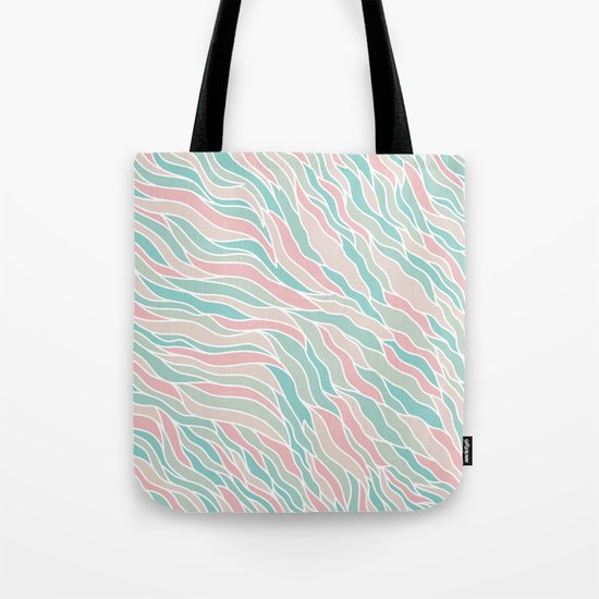 Modern Abstract Stripes Pattern Tote Bag