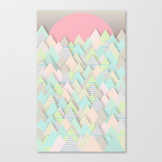 Forest Pastel Canvas Print
