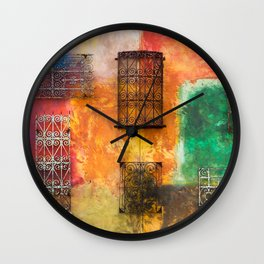 BLACK AND WHITE IRON WORKS Wall Clock