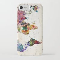 paint iPhone & iPod Cases featuring map by mark ashkenazi