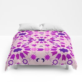 Purple Arabesque Comforters