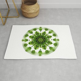 Maidenhair Fern Mandala Rug