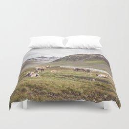Tyrolean Haflinger horses I Duvet Cover