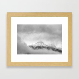 Peak in the clouds Framed Art Print