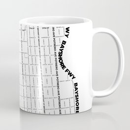 Mission District White Map Coffee Mug