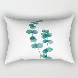 green eucalyptus watercolor Rectangular Pillow