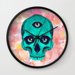 SKULL X BACK Wall Clock