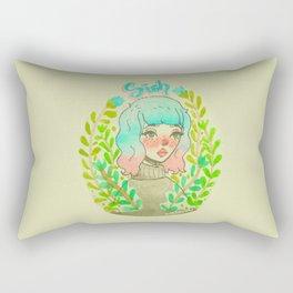 Sigh. by Ane Teruel.  Rectangular Pillow