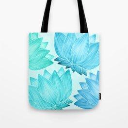 Lotus Love II / Zen Teal Palette Tote Bag