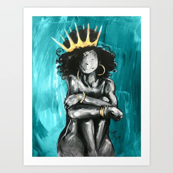 Naturally Queen IX TEAL Kunstdrucke