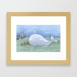 catching up Framed Art Print