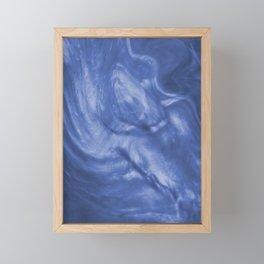 Flowing Purple Haze, Pearlescent Fluid Art Illustration Framed Mini Art Print