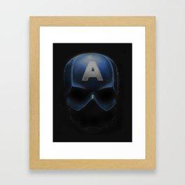 Capt America - Cowl Portrait Framed Art Print