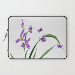 Butterflies and flowers Laptop Sleeve