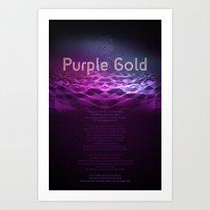 Purple Gold Art Print