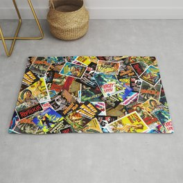 50s Movie Poster Collage #14 Rug