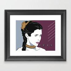 80s Princess Leia Slave Girl Framed Art Print