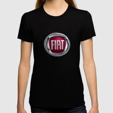 Fiat Womens Fitted Tee SMALL Black