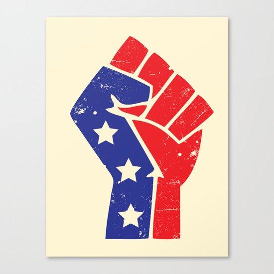Revoltion Party Fist Canvas Print