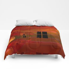 the crooked red room Comforters