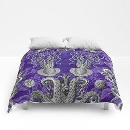 The Kraken (Purple - No Text) Comforters