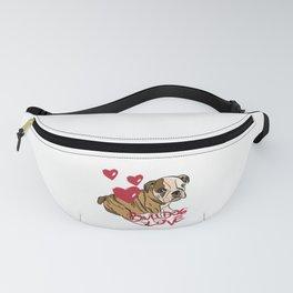 British Bulldog Love Fanny Pack