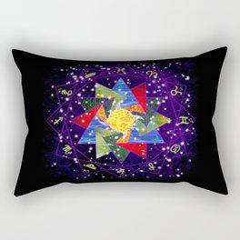 Astrological Circle Rectangular Pillow
