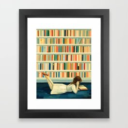 I Saw Her In the Library Framed Art Print