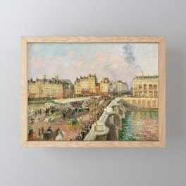 "Camille Pissarro ""Afternoon Sunshine, Pont Neuf"" Framed Mini Art Print"