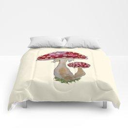 Fly Agaric Cream Comforters