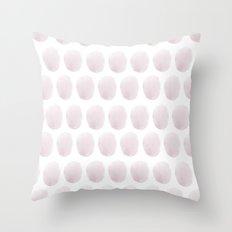 Watercolour polkadot blush Throw Pillow