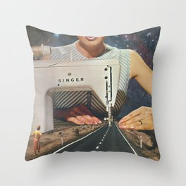 This is how a road gets made - Sewing Machine Throw Pillow