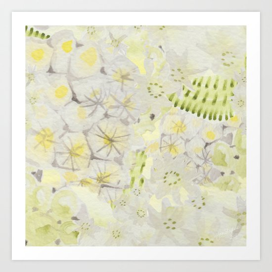 Lemon Abstract Art Print
